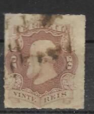 Brazil -  1877 - Used - 20 reis - Rouletted -  Scott#  62