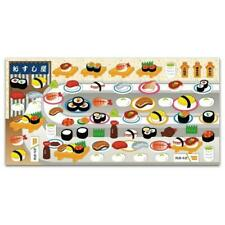 CUTE SUSHI STICKERS Japanese Food Puffy Raised Vinyl Sticker Sheet Kawaii Craft