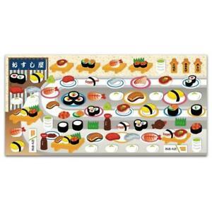 CUTE SUSHI STICKERS Japanese Food Puffy Raised Vinyl Sticker Sheet Kawaii Craft