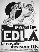 PUBLICITÉ EDLA LE RASOIR DES SPORTIFS - BOXE BOXEURS