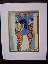 "8x10 Art Deco Georges Barbier ""The Style of Shawls"" matted art print"