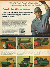1966 New Idea Hydraulic Mechanical & Pan Manure Spreader Ad Coldwater Ohio