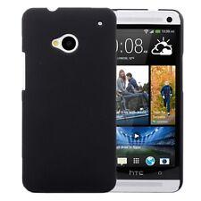 CUSTODIA HARD CASE RIGIDA per HTC ONE M7 801 COVER GUSCIO Nero NUOVO PROTEZIONE