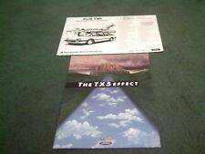 August 1985 FORD Australia TX5 & GHIA - BROCHURE + SPECIFICATION SHEET Telstar