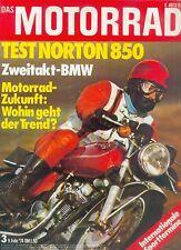 Motorrad 3 74 Norton 850 BMW R 10 DKW Luxus 200 BMW Getriebe Rollenlager 1974