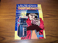 SEGA SHOOTING MASTER ORIGINAL VIDEO ARCADE GAME PROMO SALES FLYER