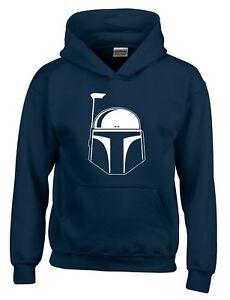 Boba Fett Helmet Star Wars Movie Inspired Mens Hoodie