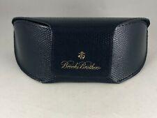 Navy Blue BROOKS BROTHERS Soft Sided Logo Glasses Sunglasses Case