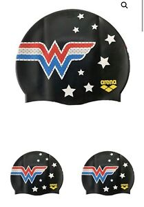 New Arena Wonder Woman Silicone Swim Cap