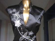 Oriental CHINESE Black Silver Long STYLISH dress 20