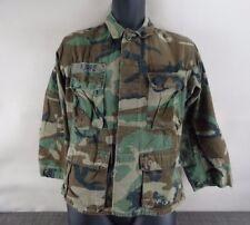 US Military Coat Shirt Combat Woodland Camouflage Men Size XSmall Short 1990-91