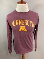 Nwt Minnesota Gophers Burgundy Short Sleeve V Neck Athletic T Shirt Small