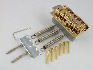 GOLD TREMOLO BRIDGE + 6 BRIDGE SCREWS + Springs for Stratocaster guitar 52.5mm