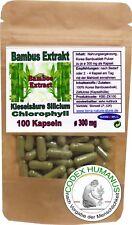 100 Kapseln à 300 mg Bambusblatt Silicium Chlorophyll Stoffwechsel Blutbildung