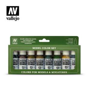 Vallejo Model Color Paint Set 108 - Panzer Colors (70.108) (x8)