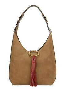 TORY BURCH Tassel Suede Hobo Bag, $598
