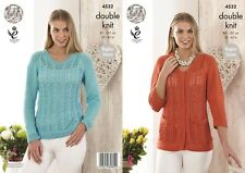 KINGCOLE 4532 DK KNITTING PATTERN  32-42 INCH -not the finished garments