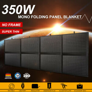 MOBI 350W Folding Solar Panel Blanket 12V Mono Completed Kit With USB 5M Cable