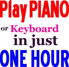 Beginners Piano Book, Learn to Play Piano Keyboard in 1 hour, 32 Page Music book