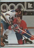 1974 Vintage NHL Hockey Program Philadelphia Flyers Montreal Canadiens GOAL