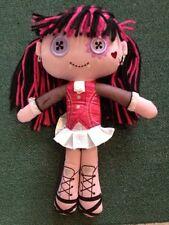 Monster High Plush Stuffed Doll Draculaura Heart Shaped Tear Freaky Button Eyes