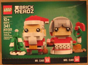 LEGO Brickheadz Santa & Mrs Claus 40274 Holiday Seasonal new #33 & #34 Christmas
