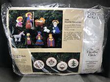 NEW Vintage The Creative Circle Nativity Ornaments 2306 Craft Kit 9 Pc Christmas