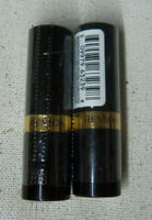 2 tube lot Revlon Super Lustrous Lipstick CREME 477 BLACK CHERRY sealed