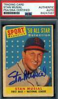 Stan Musial PSA DNA Coa Autograph 1958 Topps Hand Signed