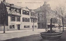 2 AK Weimar Schillerhaus Gänsebrunnen Goethe-Schiller-Archiv 1908
