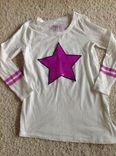 Justice dance star top tee t shirt size 7 girls sequin sparkle star
