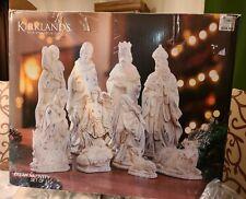 "Kirkland's Signature 11 Piece Cream Christmas Nativity Set 12"" tall. EUC"