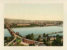 Photochrome P.Z Koblenz + Schloss Stolzenfels - Allemagne c. 1900