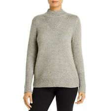 Elie Tahari Mulheres Lã Cinza Gemma Bend tricô pulôver suéter XL BHFO 7011