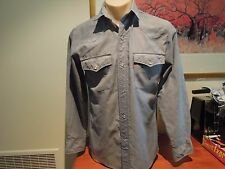 LADIES LEVIS STUD BUTTON SHIRT MADE IN AUSTRALIA 50%COTTON 50% POLYESTER