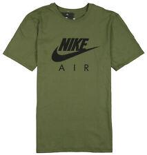 Nike Air Max Logo T-Shirt sz S Small Olive Green Black