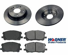 Rear Ceramic Brake Pad Set & Rotor Kit for 2008 Honda Civic EX-SI-MUGEN SI