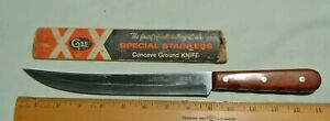 """Older Case XX 284-9"""" Special Stainless Concave Ground 9"""" Carving Knife"""