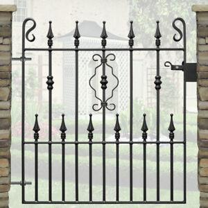 Wrought Iron Metal Gate - Safety Spear Single Steel Garden Gates - 3ft Opening