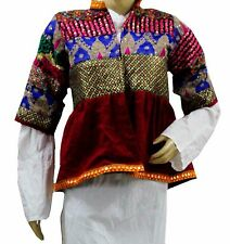 Indian Vintage Jacket Choli Tunic Top Antique Banjara Embroidered work red new