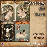 pathology art tarot cards deck guide book oracle rare minor major arcana vintage