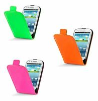 For Samsung Galaxy S3 Mini i8190 Neon Bright Glossy PU Leather Flip Case Cover