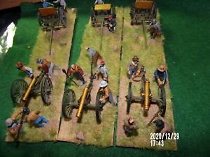 28mm ACW 12pd Artillery Battery Painted and based Perry Plastics