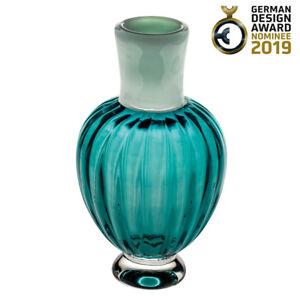 Vista Alegre Crystal Única Large Vase Caneleto Blue