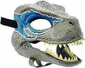 Jurassic World Velociraptor BLUE Dinosaur Dino Mask Camp Cretaceous NEW