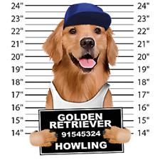 Golden Retriever Mug Shot Long Sleeve T-Shirt Pick Your Size