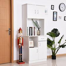 HOMCOM Freestanding Kitchen Cabinet Storage Unit Pantry Cupboard Organiser White