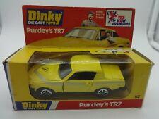 "Dinky#112  Meccano ""The New Avengers"" Purdey's Yellow Triumph TR7 - MIB"