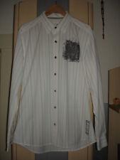 Esprit Herren Hemd weiß Gr. L 50 Streifenhemd Freizeit Herrenhemd Shirt Langarm