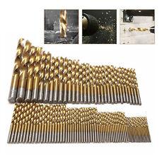 99Pc Twist Drill Bit Set Drills Hss High Speed 1.5mm-10mm Titanium Coated Brocas